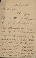 Correspondence, H.B. Hanmore to Franklin B. Gowen, 1875-04-14