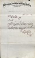 Allan Pinkerton and Benjamin Franklin to F. B. Gowen, 1874-11-13