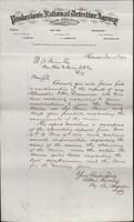 Allan Pinkerton and Benjamin Franklin to F. B. Gowen, 1874-12-12