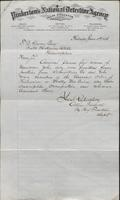 Allan Pinkerton and Benjamin Franklin to F. B. Gowen, 1876-06-05