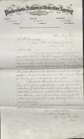 Allan Pinkerton and Benjamin Franklin to F. B. Gowen, 1875-07-15