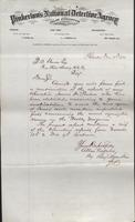 Allan Pinkerton and Benjamin Franklin to F. B. Gowen, 1874-12-11