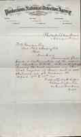 Allan Pinkerton and Benjamin Franklin to F. B. Gowen, 1875-04-15