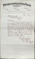 Allan Pinkerton and Benjamin Franklin to F. B. Gowen, 1875-02-23