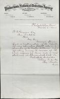 Allan Pinkerton and Benjamin Franklin to F. B. Gowen, 1875-03-02