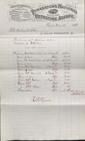 Service and expense account for investigations regarding Molly Maguires from 1878-03-01 to 1878-04-27