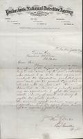 Allan Pinkerton and Benjamin Franklin to F. B. Gowen, 1875-06-16
