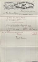 Service and expense account for special investigation in the coal regions from 1878-07-28 to 1878-10-19