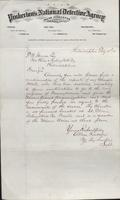 Allan Pinkerton and Benjamin Franklin to F. B. Gowen, 1875-02-15