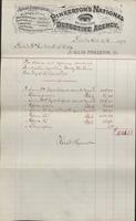 Service and expense account for investigations regarding Molly Maguires from 1878-07-28 to 1878-09-26