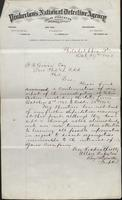 Allan Pinkerton and Benjamin Franklin to F. B. Gowen, 1873-10-29