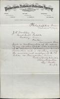 Allan Pinkerton and Benjamin Franklin to J. E. Wootten, 1875-03-02