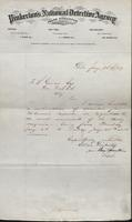 Allan Pinkerton and Benjamin Franklin to F. B. Gowen, 1874-01-28