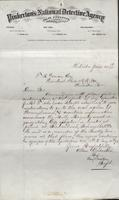 Allan Pinkerton and Benjamin Franklin to F. B. Gowen, 1875-06-20