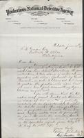 Allan Pinkerton and Benjamin Franklin to F. B. Gowen, 1875-06-15