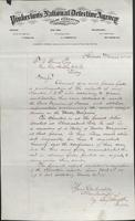 Allan Pinkerton and Benjamin Franklin to F. B. Gowen, 1875-03-31