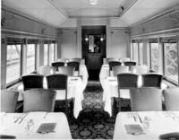 PC70B cafe coach #1112, interior of dining room