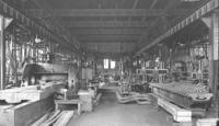 Machine shop, interior of lower floor at Juniata, Pa., shops
