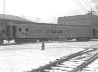 Pullman Car 'Creole,' side view showing damage, wreck at Bennington