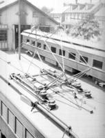 Pantograph on multiple unit car, for instruction book