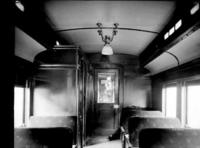 MP54 multiple unit car, interior, saloon end view