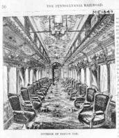 Old type parlor car, interior view