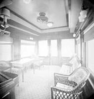 Business car #7504, Quaker city, interior view, observation room, parlor