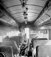Wreck near Longfellow, Pa., car #1497, interior view