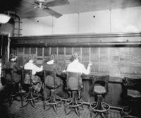 Motive power telephone exchange, operators room