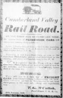 Cumberland Valley Railroad Company timetable