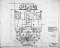 P5a electric engine tracing B97829, side elevation