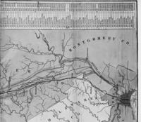 Map, Downingtown to Philadelphia, Pa.