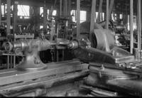 Gauging rose reamer on grinding machine at Juniata, Pa., shops