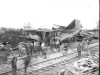 New Portage junction, freight wreck, general view