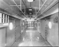 BM70l Mail Car converted to B70b at Wilmington, Del. shops, interior view
