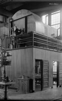 Erecting shop, heating plant and washroom interior at Juniata, Pa., shops