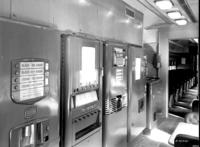 Concessions and bar car #1108, interior view, concessions