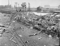 1950 explosion at South Amboy, N.J., aerial view of coal dumper