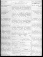 Altoona Cricket Club Games vs. Bedford newsprint