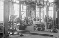 Machine shop, lower floor, milling machine area at Juniata, Pa., shops