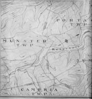 Topographical plan of reservoir and vicinity at Wilmore, Pa.