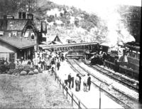 Wreck trains #13 and #15, general view, Gable and Co., at Tyrone, Pa.