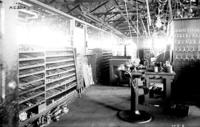 Machine shops, tool room, interior view, at Juniata, Pa., shops