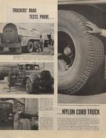 Truckers ' Road Tests Prove ... Nylon Cord Truck Tires Give Much Lower Cost per Mile