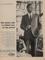 New Summer Suits Are Lightest Ever, Yet Stay Pressed : Dacron Polyester Fiber