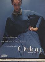 Nantucket's Naturals Wide Wide Whirl of Stay - Put Pleats in Luxury Jersey of Orlon and Wool