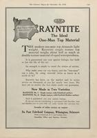 DuPont Fabrikoid Rayntite : The Ideal One-Man Top Material