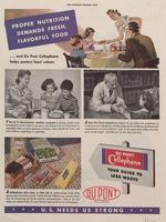 Proper nutrition demands fresh, flavorful food...and DuPont Cellophane helps protect food values