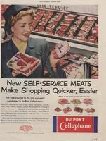 New Self-Service Meats Make Shopping Quicker, Easier : DuPont Cellophane