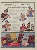 How Five Sharp - Eyed Housewives Got Ideas for Dinner Tonight! DuPont Cellophane